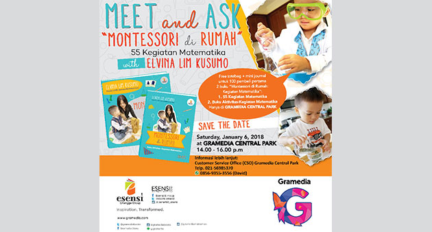 "Meet and Ask ""Montessori di Rumah"" With Elvina Lim Kusumo"